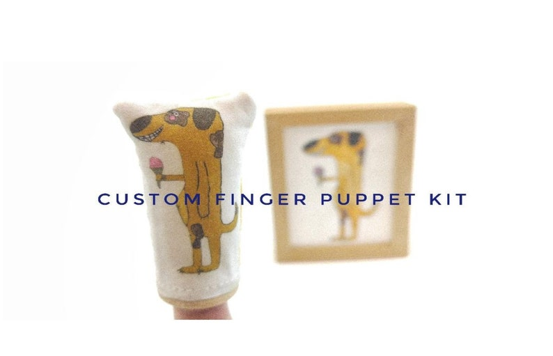 2d36cf93b402 Make Your Own Custom Finger Puppet Kit | Etsy