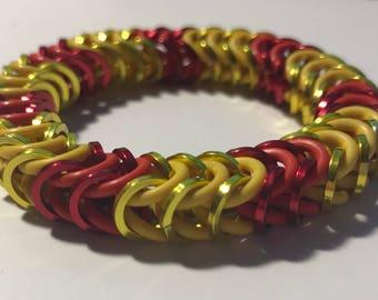 Florida Mayhem Inspired Stretch Box Chain Chainmaille Bracelet