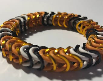Philadelphia Fusion Inspired Stretch Box Chain Chainmaille Bracelet