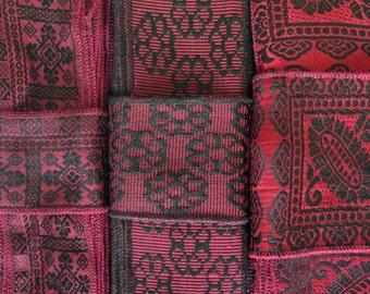 Red and Black Sari Ribbon SR454