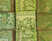 Vintage Sari borders, Green Trim SR926