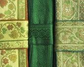Saree Trim, Green ribbon SR582