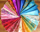 25 pieces of silk remnants, silk fabric scraps, Easter egg dyeing