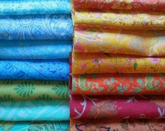 Linens & Textiles (pre-1930) Au Lot Pure Silk Antique Vintage Sari Remnant Fabrics 100 Grams Floral #abjur