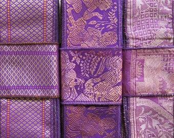 Purple Sari borders, Sari Trim SR603