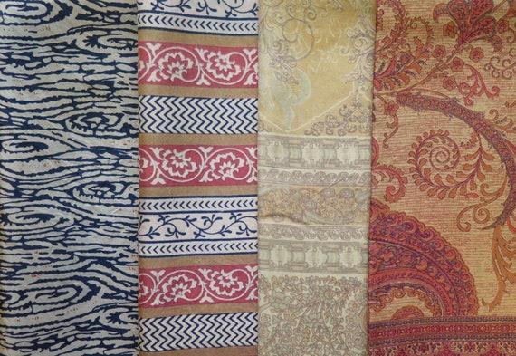 Silk Fabric F203 Vintage Fabric Fat Quarters