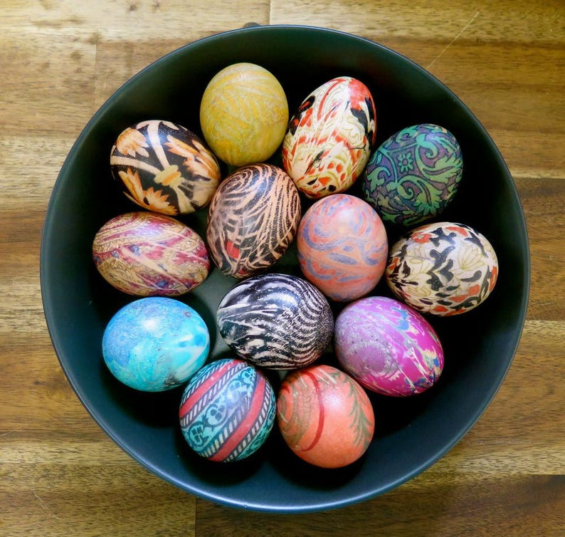 Craft Silk Pieces Easter egg dye set 25 silk pieces for Easter egg Dyeing Easter eggs