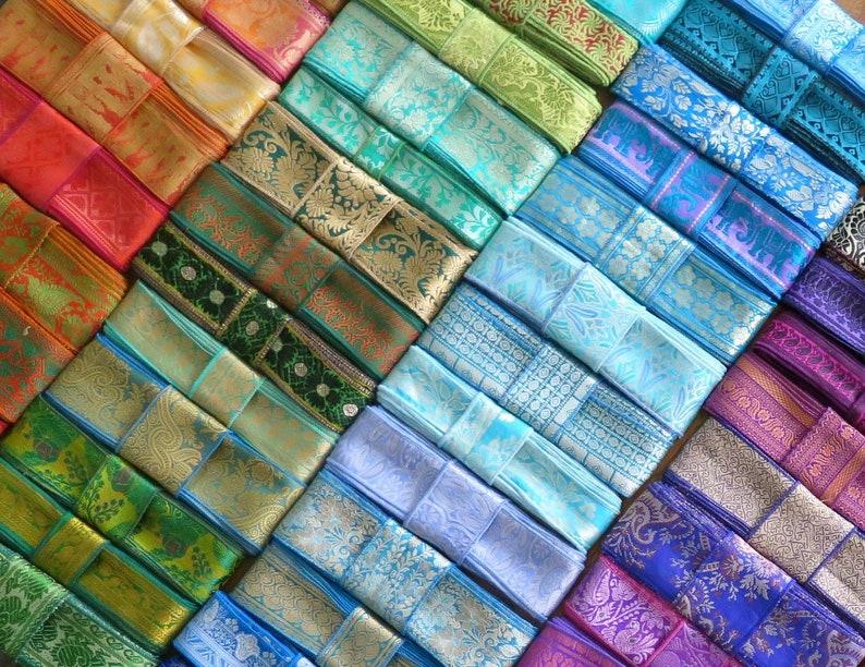 20 Yards Vintage Trim Sari Borders Vintage Fabrics SR60 image 0