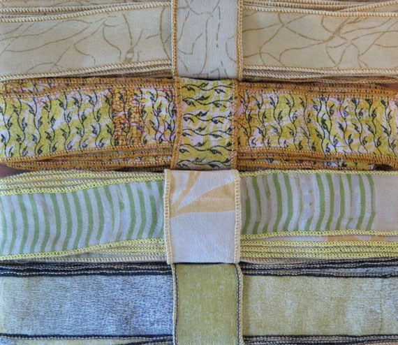12 de verges de garniture de 12 soie, 4 couleurs, C93 7639b4