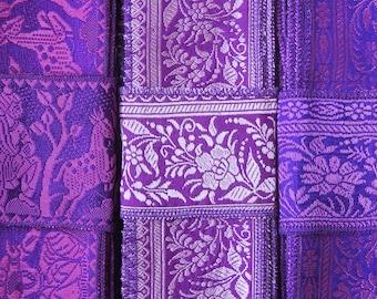 Purple Ribbon, Vintage Sari borders, Sari Trim SR585