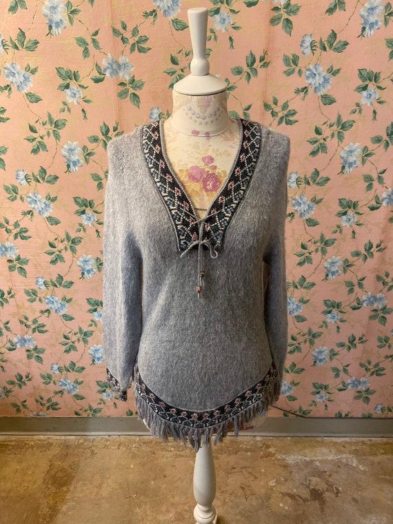 1970's Alpaca Fringe Sweater