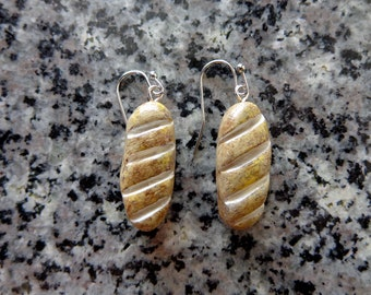 Handmade Hand painted Baguette Bread Earring. Food. Foodie. Quirky. Polymer Clay. Cottagecore. Fish Hook.