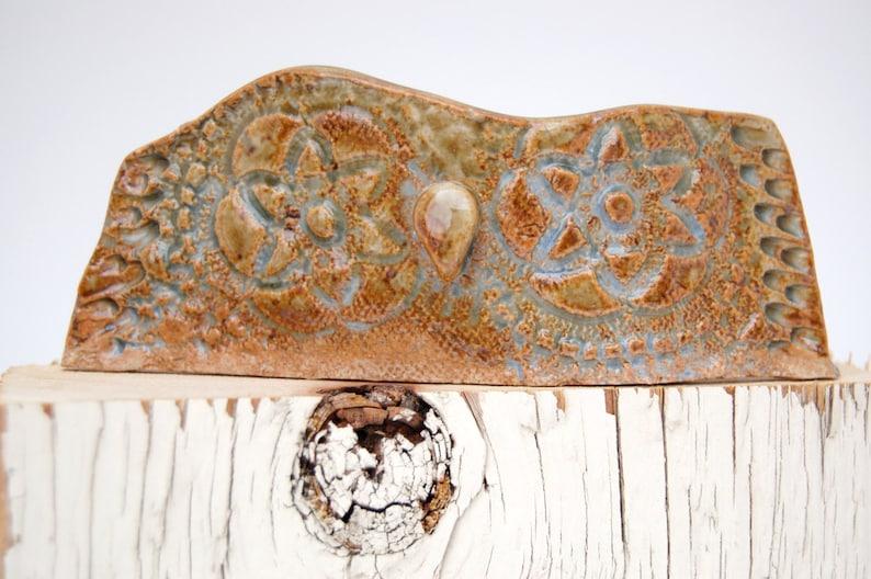Ceramic Owl Sculpture  Fine Art Owl Totem  Home Office Decor image 0