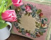 English Vintage Needlepoint Cushion