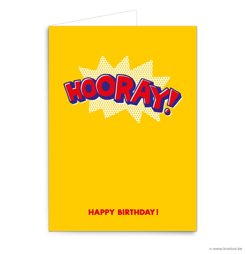 Pop Art Birthday Card Hooray