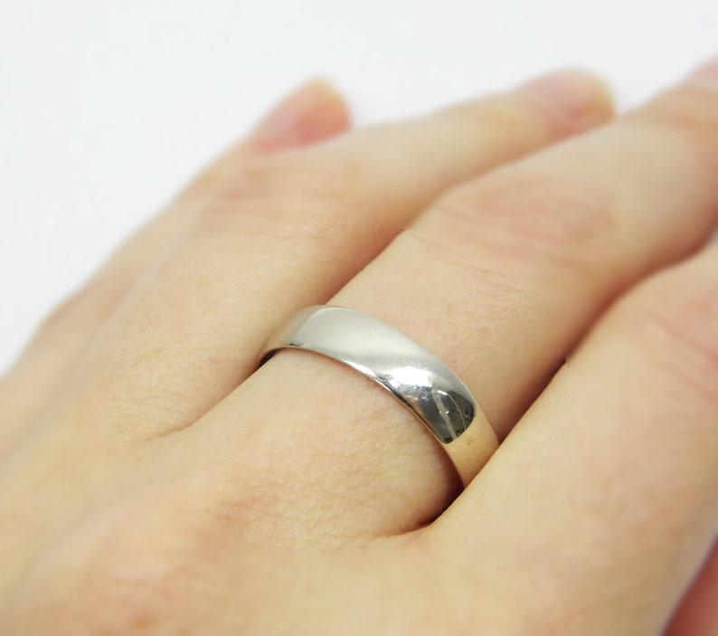 gr-9377-663 men wedding ring Gold wedding ring.men wedding band.14k white gold wedding ring round 5mm wedding ring matte wedding ring ,