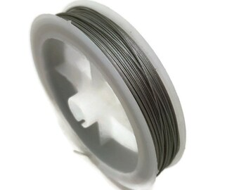 flex wire matt silver  nylon coated   Stainless steel  Wire,  med, weight  0.45mm;   50m roll