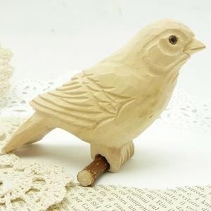 """hand carved wooden bird 3 1/2 """"x 3 1/2""""  x 2"""""""