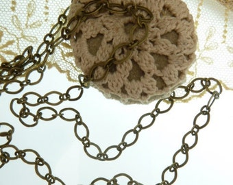 18 inches of Handmade Chain , Iron coated in  Antique Bronze,