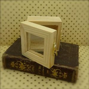 tiny wooden shadow box