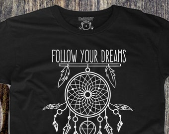 Follow Your Dreams T-Shirt - Children's Boho Tees - Hipster Kids Clothing - Toddler Dreamcatcher T-shirt - Boys T-shirts Girls T-shirts