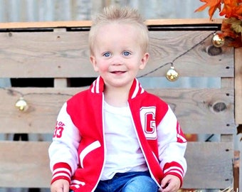 09300a181c7 Toddler Letterman Jacket - Varsity jacket - Custom Varsity Jacket - Kids  Personalized Jacket - Baby Varsity Jacket - Custom Baby Jacket
