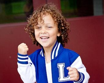 Toddler Varsity Jacket - Personalized Kids Jacket - Best Seller Letterman Jacket - Trendy Kids Clothes - Spring Jacket - Keepsake Baby Gift