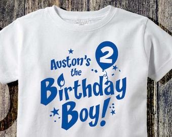 Personalized 2nd Birthday Boy T Shirt Custom Second Tee Personlized Boys Clothing