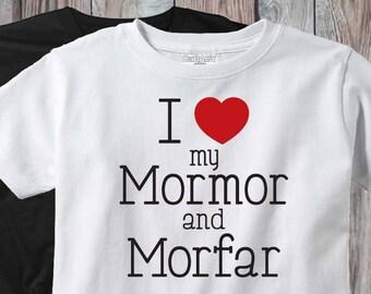 Newborn Baby Girl - Newborn Baby Boy - Mormor and Morfar Shirt - I Love My  Mormor   Morfar Bodysuit - New Baby Gift - Swedish Grandparents 04661fa14