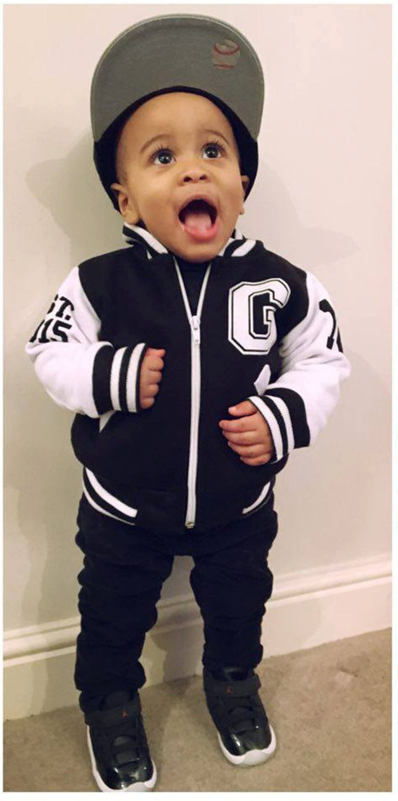 4ab02a1822d Infant Varsity Jacket Personalized Kids Varsity Jacket | Etsy