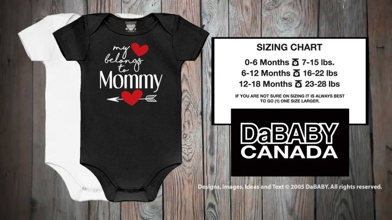 5a79b6a2 Mother's Day My Heart Belongs To Mommy Bodysuit | Etsy
