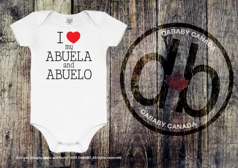 I love my Abuela & Abuelo Abuela and Abuelo Tees Baby   Etsy