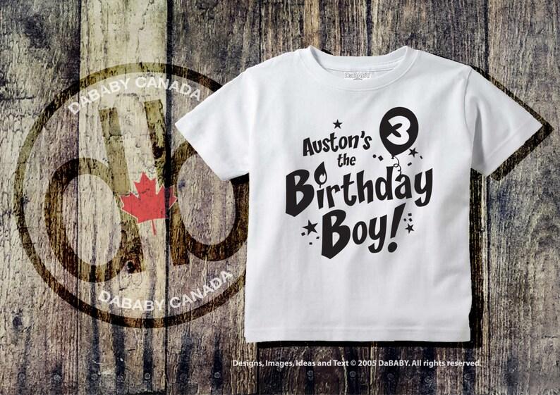 Custom 3rd Birthday T Shirt Personalized Boy
