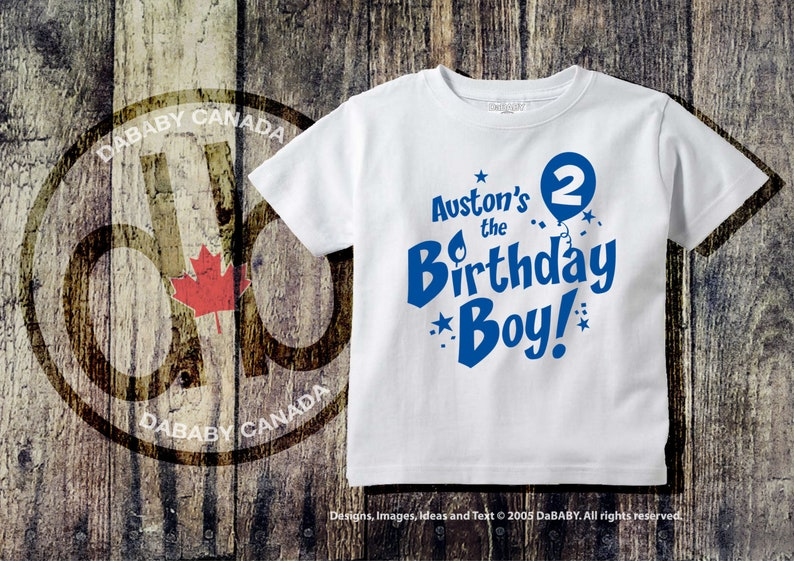 Personalized 2nd Birthday Boy T Shirt Custom