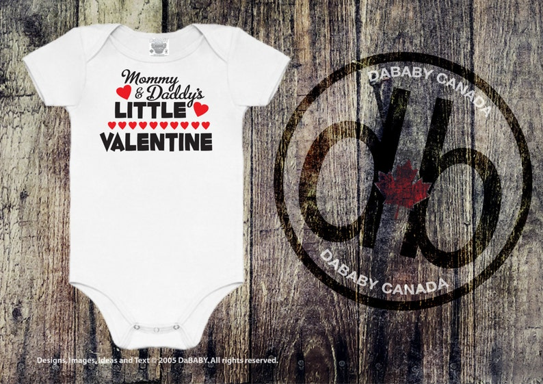 Mommy and Daddy/'s Little Valentine/'s Day Bodysuit Baby Girls/' Clothing Mommy /& Daddy/'s Little Valentine/'s Day T-Shirt Baby Boys/' Clothing