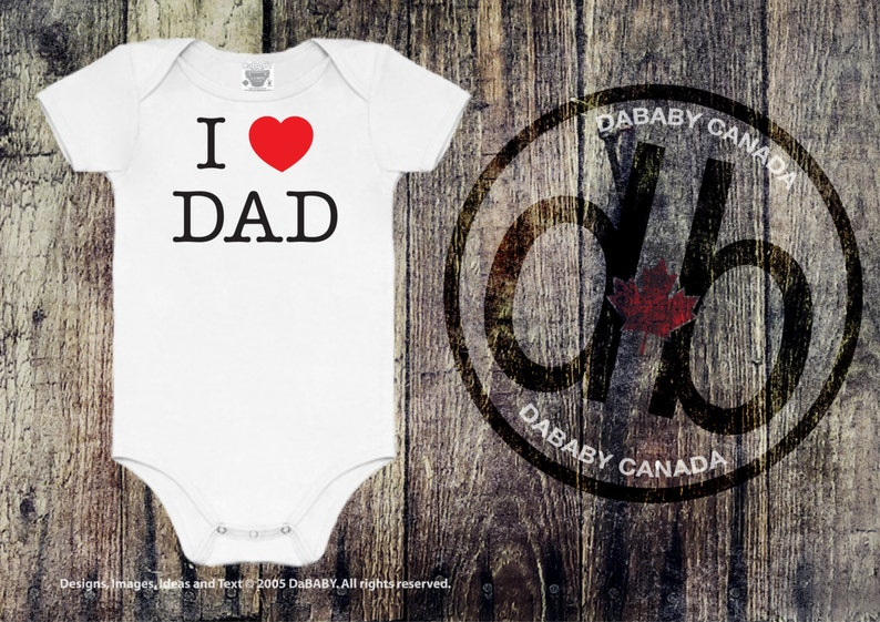 b8a9759c I Love Dad Bodysuit Father's Day T-shirts Baby Shower | Etsy