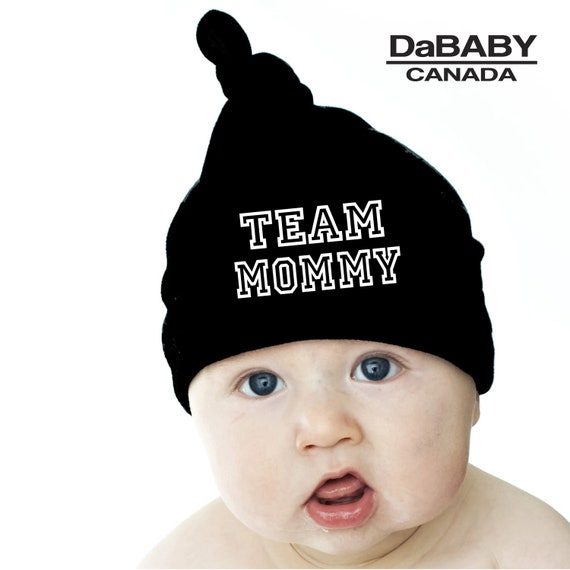 Team Mommy Knotted Baby Beanie Trendy Slouchy Hat Striped  f1c16c639