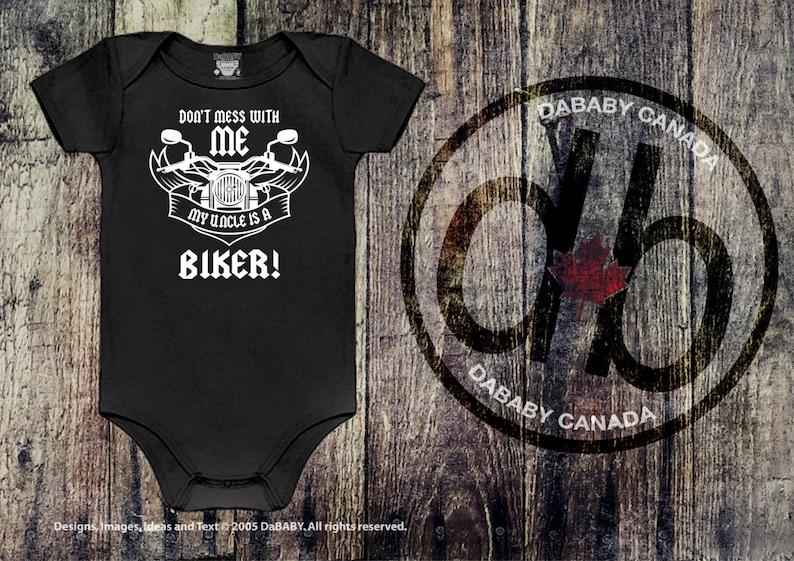 150c2efa7 My Uncle is a Biker Biker T-Shirt Baby Boy Clothing | Etsy