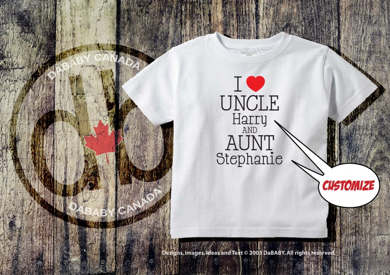 e6ff053de I Love my Aunt and Uncle Tee Custom Auntie & Uncle T-shirt | Etsy