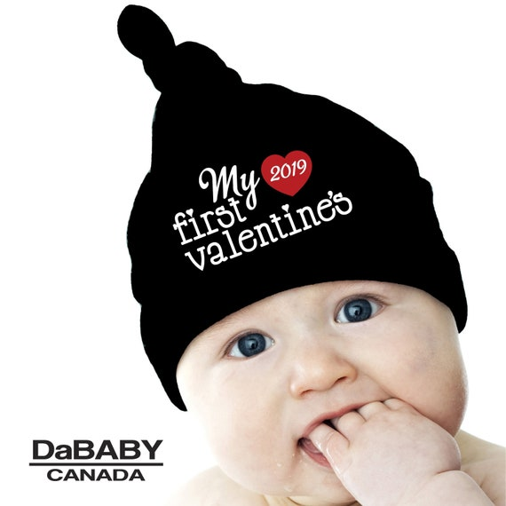 My First Valentines Baby Beanie My 1st Valentines Knotted  1153cffd4