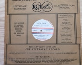 1930s Victrolac Record United States Maritime Commission quot Song of the Victory Fleet quot 12 Inch 78 RPM, Rare, Allied Phonograph Radio Disc