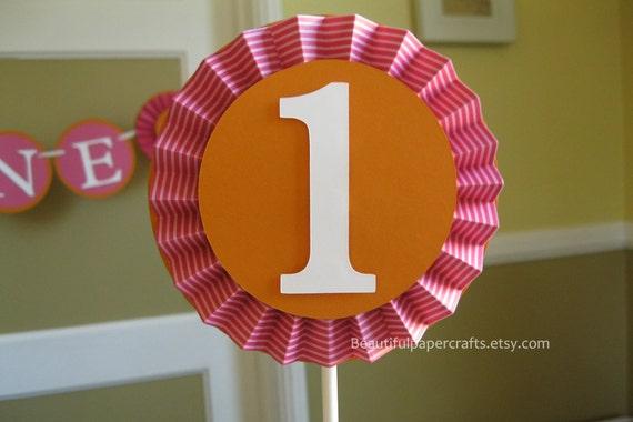 5 Smash Cake Topper Letter Or Number Rosette Toppers