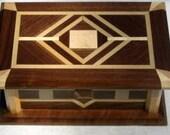 Handmade Walnut Music Box