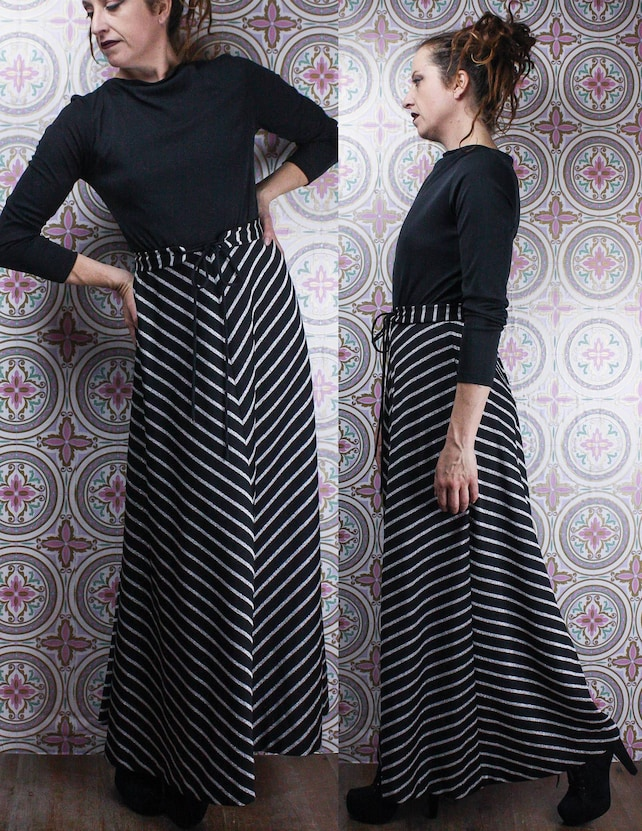 1a6ee64a843 70 s Black   Silver Gown