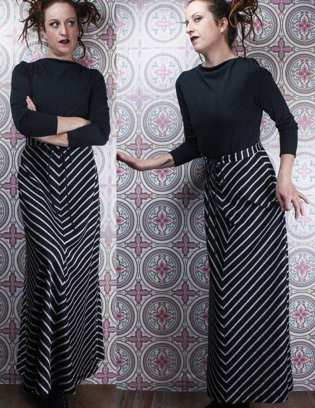 0d4655c95b52 70 s Black   Silver Gown