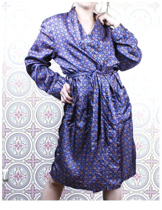 40's Men's Smoking Jacket Robe by Majestic, Size L