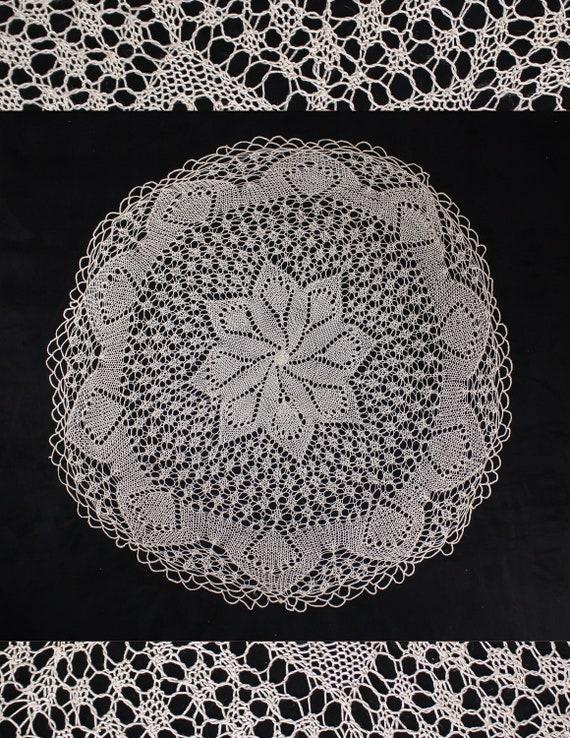 50 S Crochet Round Table Cloth Cream Lace