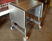 Typing Table Industrial Chrome Vintage