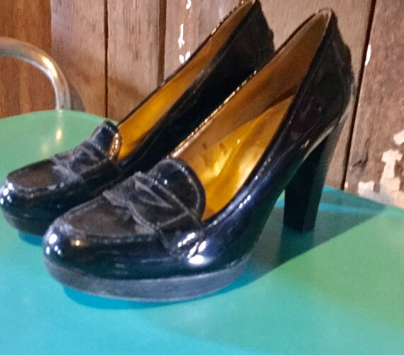 Shoes Women's Marc Fisher Black Patent Leather Pum
