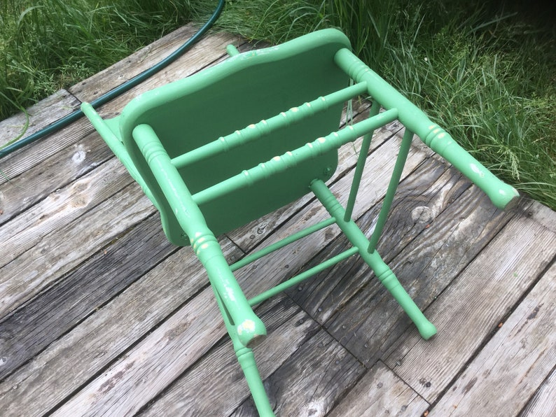 Magnificent Chair Dining Side Apple Green Wood Kitchen Vintage Short Links Chair Design For Home Short Linksinfo